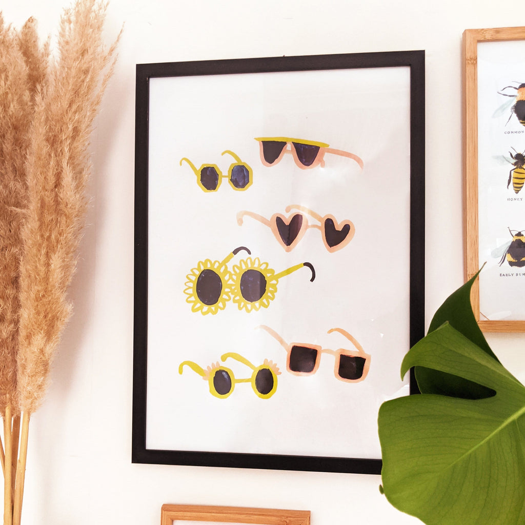 Summer Sunglasses wall art print - A3