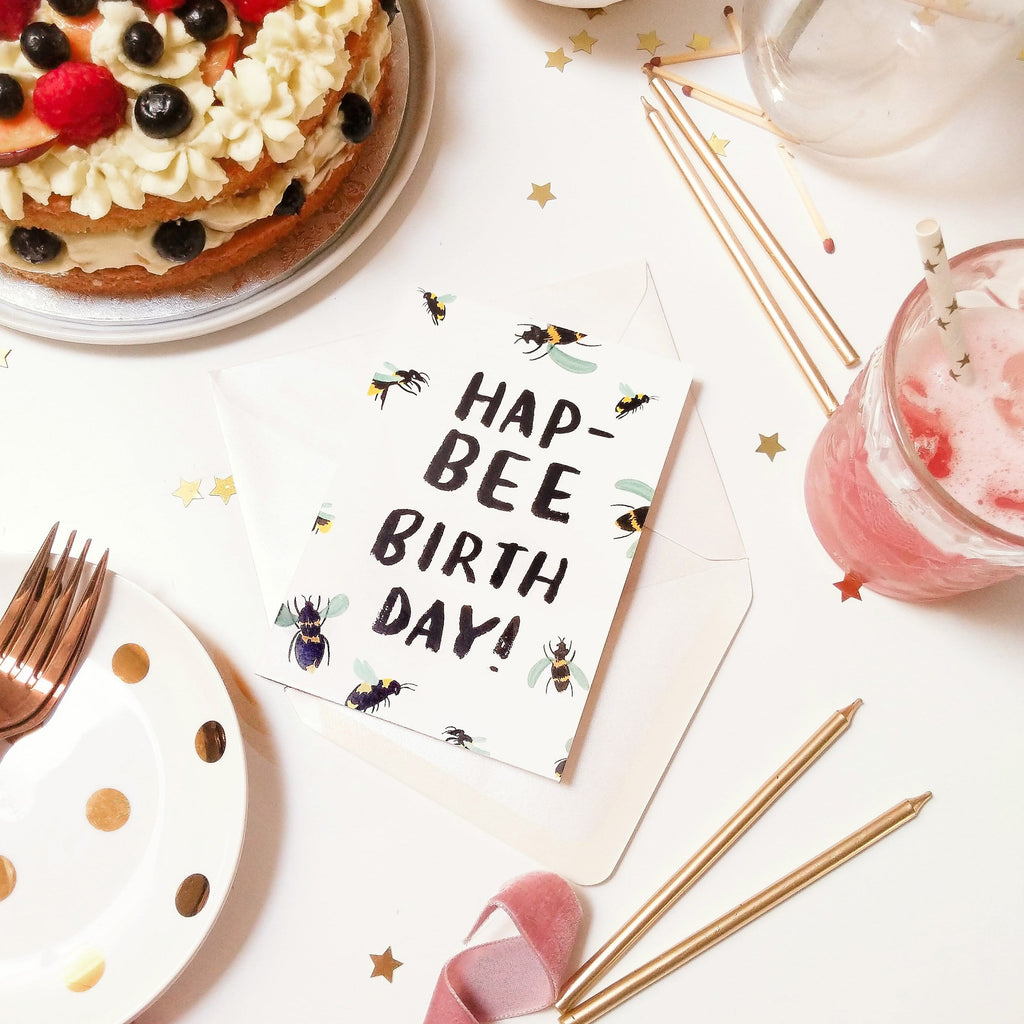 British Bee Birthday Card - Annie Dornan-Smith Design
