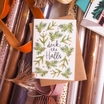 Deck the Halls Scandi Christmas Card - Annie Dornan-Smith Design