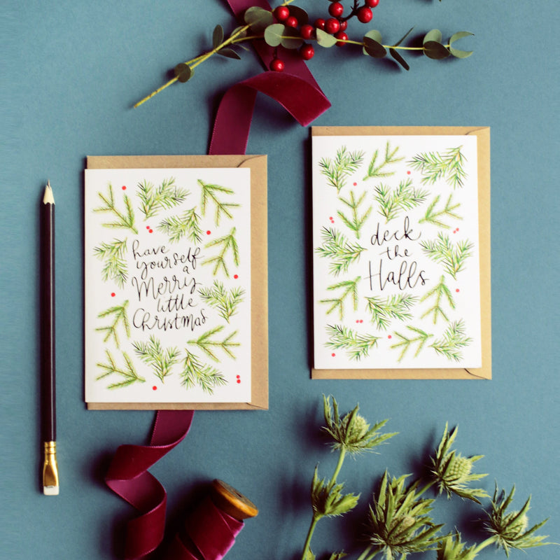Merry Little Christmas Scandi Christmas Card - Annie Dornan-Smith Design