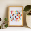 motivational wall art - SUCCEED print