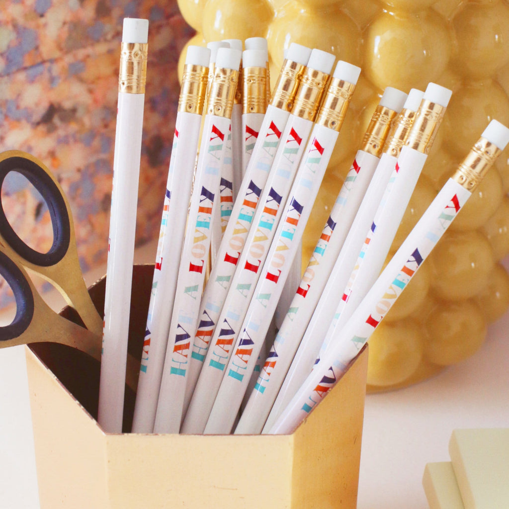 Have A Lovely Day Compliment Pencil Pack - Annie Dornan-Smith Design