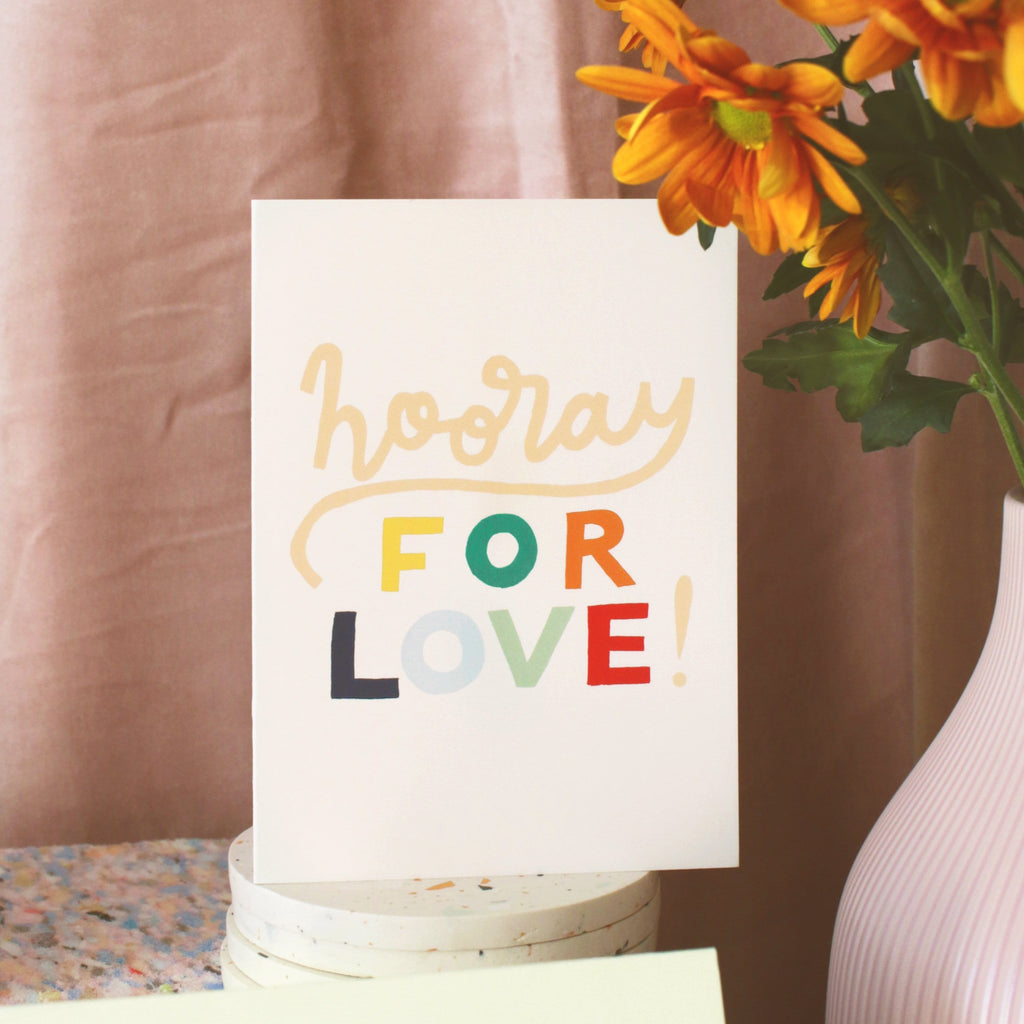 Hooray for Love Engagement Card - Annie Dornan-Smith Design