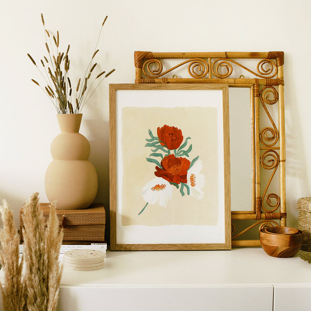 daisy botanical wall art