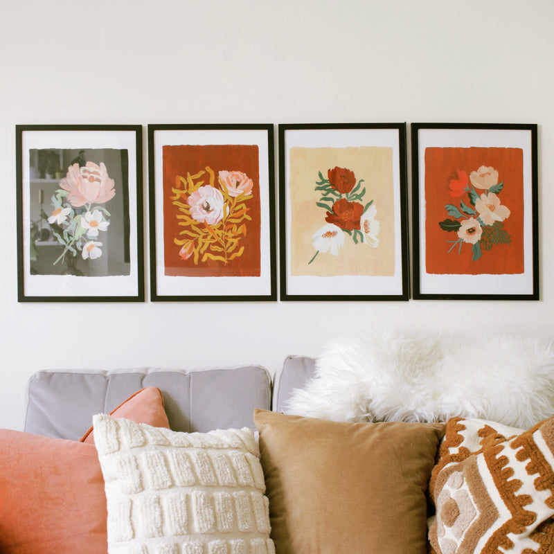 botanical blooms art prints A3
