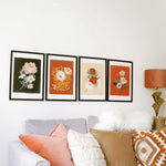 botanical blooms wall art A3