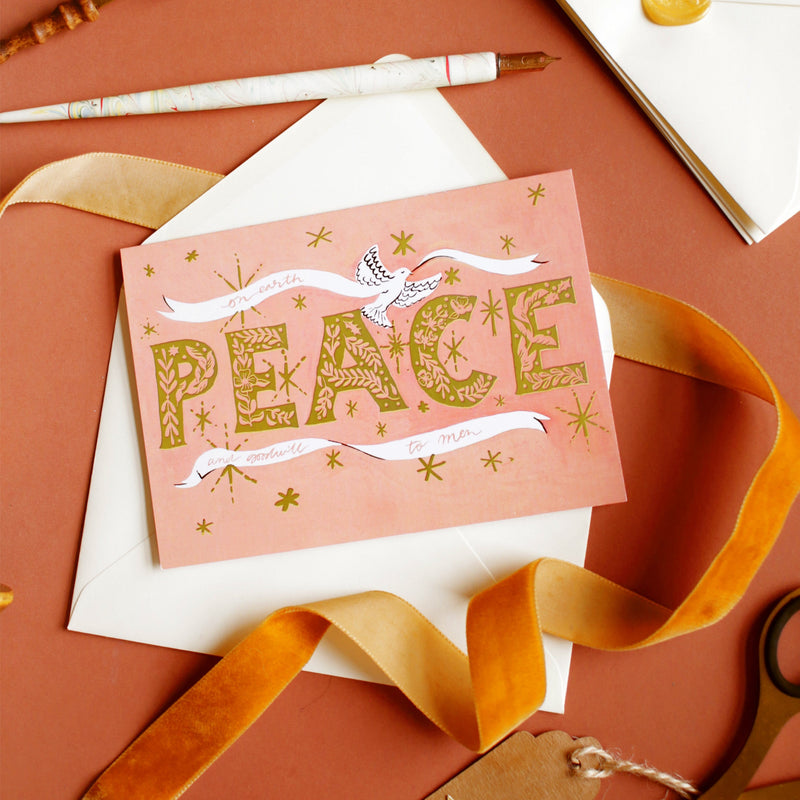PEACE luxury christmas card