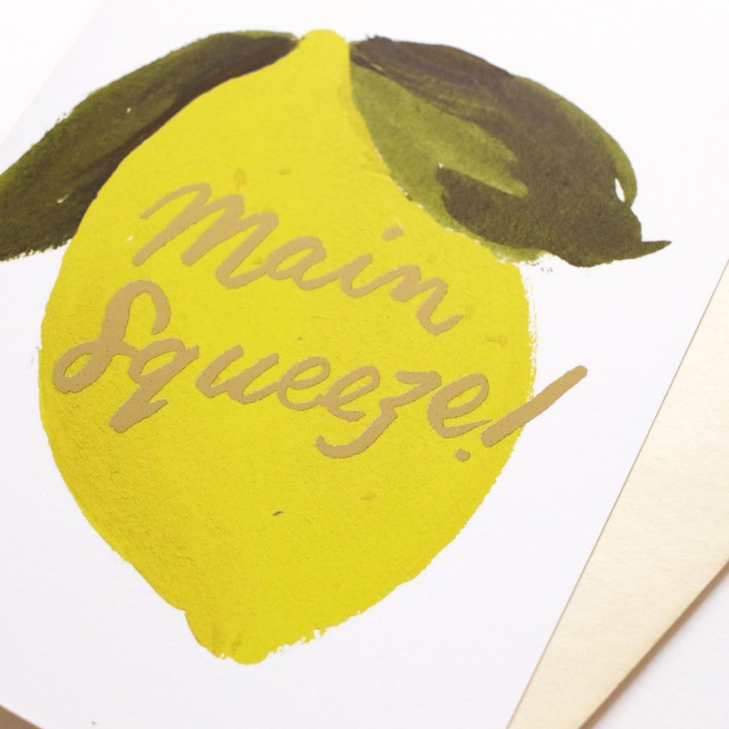 main squeeze lemon anniversary card