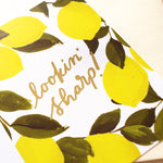 looking sharp lemon valentine's card