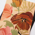 foil detail illustrated floral friendship/love card
