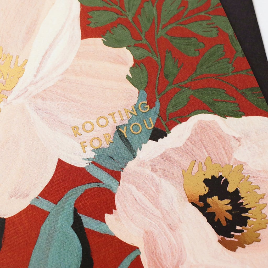 gold foil detail - floral encouragement card