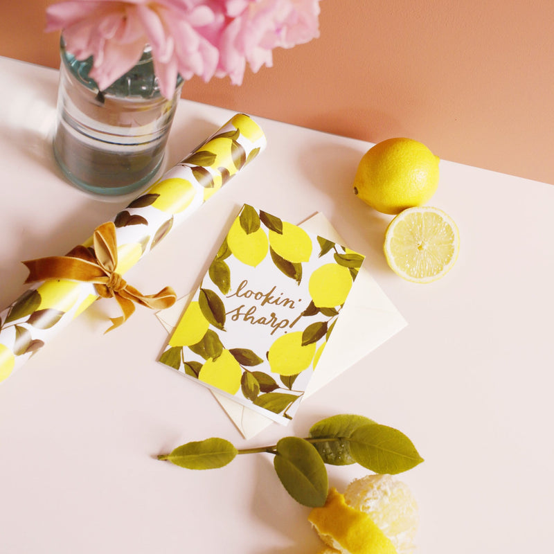lemon anniversary card