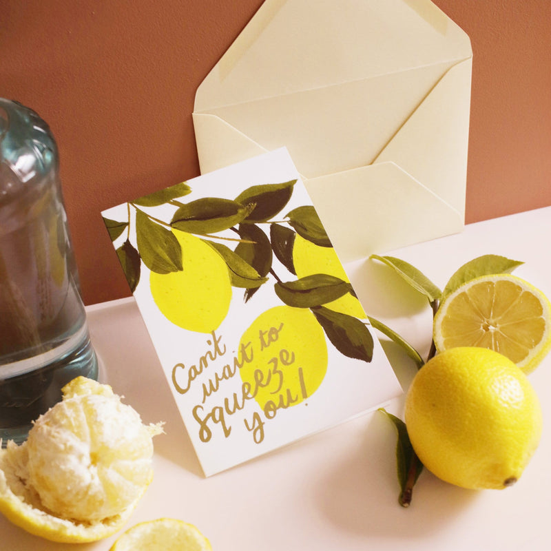 miss you lemon themed card