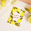 lemon pun valentines card