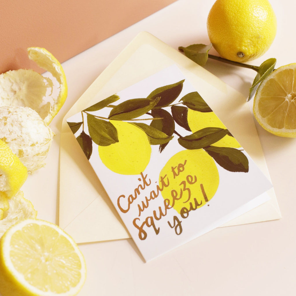 illustrated lemon card