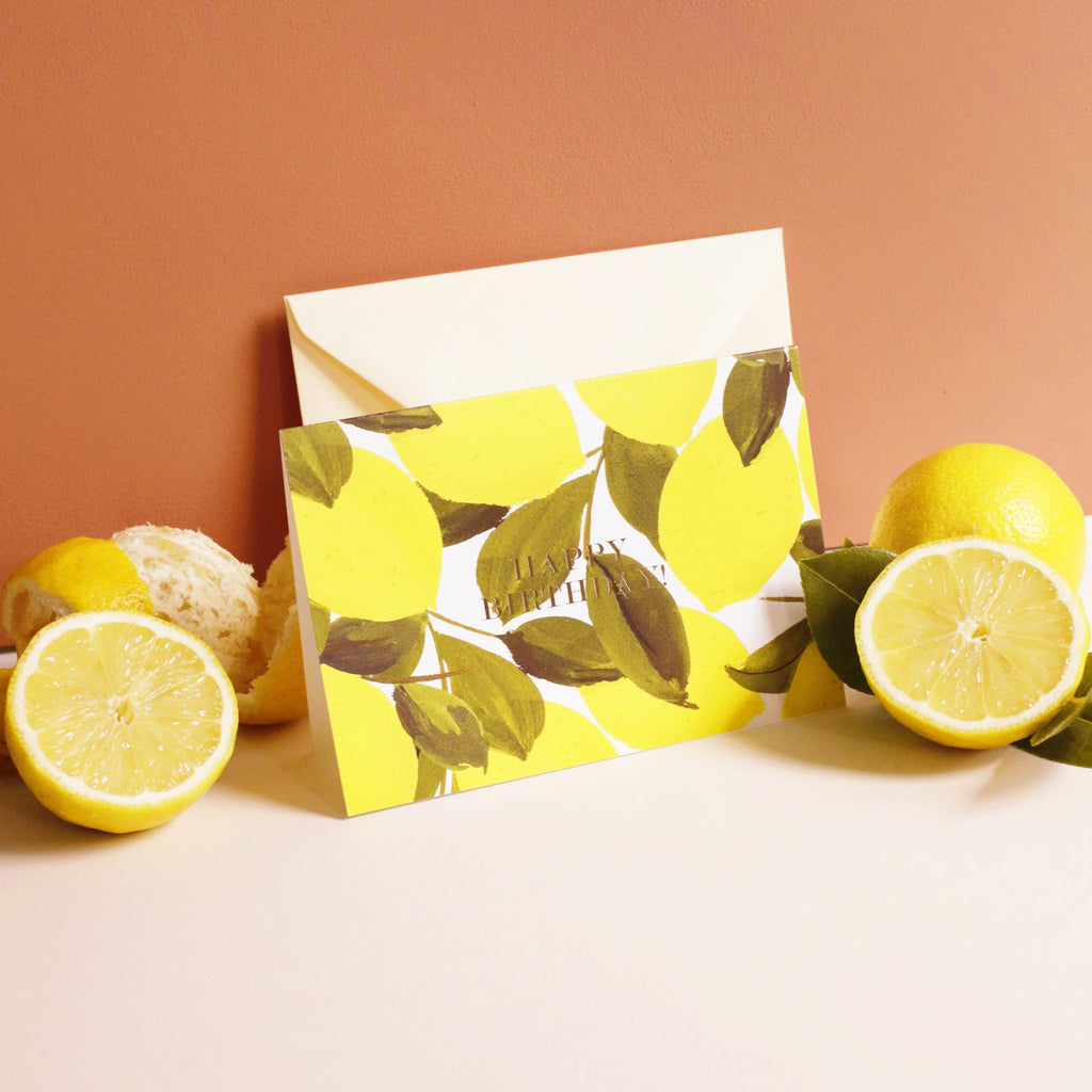 lemon birthday card