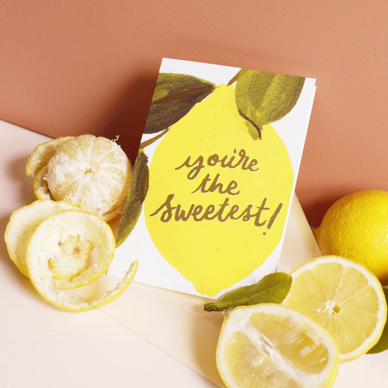 sweetest lemon thank you card