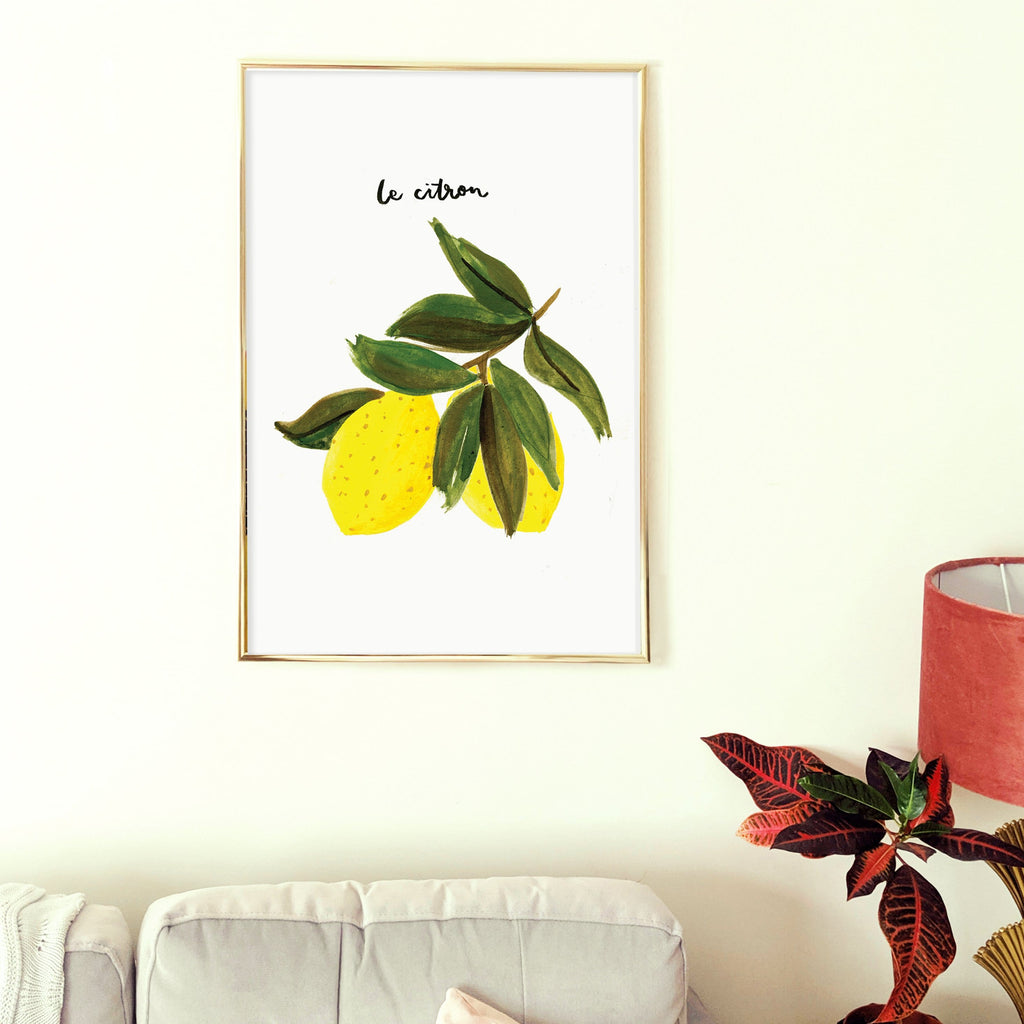 Le Citron Lemon Print A2 - Annie Dornan-Smith Design
