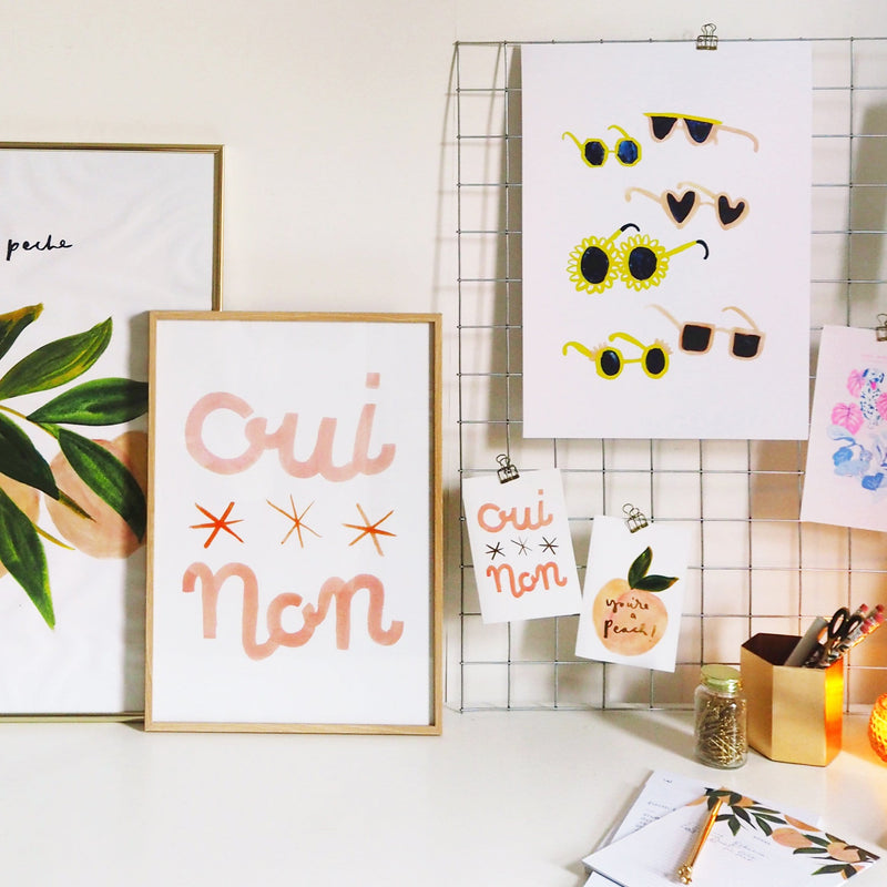 Oui Non French Print A3 - Annie Dornan-Smith Design