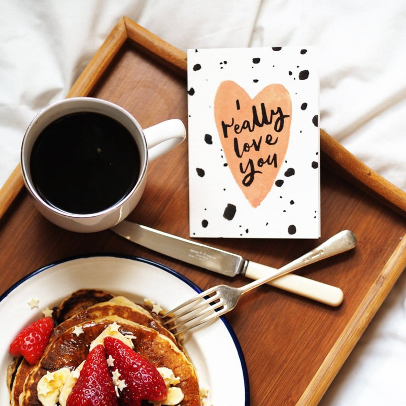 valentine's breakfast in bed! | perfectly unique valentines day cards
