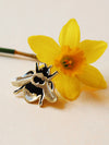 British Bee Gold Enamel Pin - Annie Dornan-Smith Design