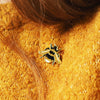 gold bee pin brooch