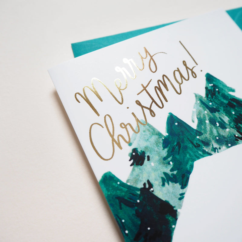 Snowy Chalet Christmas Card - Annie Dornan-Smith Design