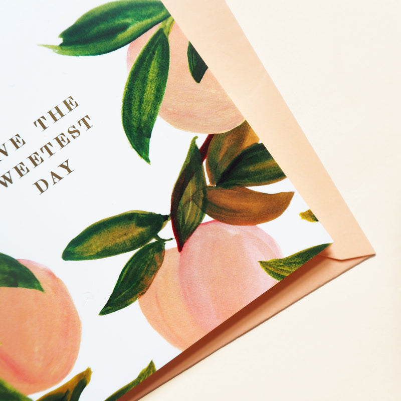 Peach Lovely Day Card - Annie Dornan-Smith Design