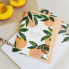 Peach Birthday Card - Annie Dornan-Smith Design