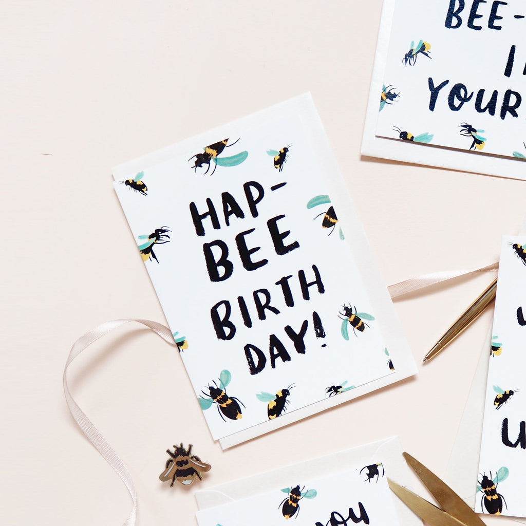 Bee Birthday Card - Annie Dornan-Smith Design