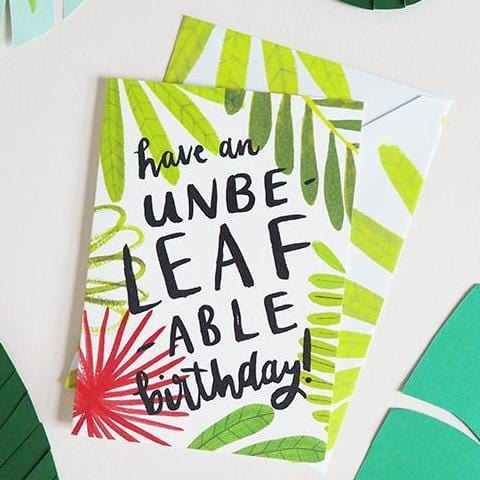 Plant Lady Birthday Card A6 - Annie Dornan-Smith Design