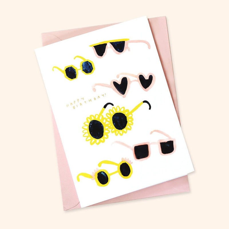 Sunglasses Happy Birthday Greetings Card A6 - Annie Dornan-Smith Design