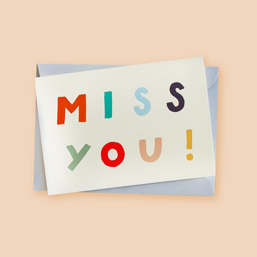 Miss You! Friendship Card - Annie Dornan-Smith Design