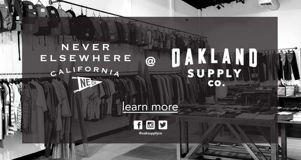 Never Elsewhere is available at Oakland Supply Co now!