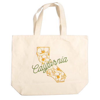 Poppy State Tote