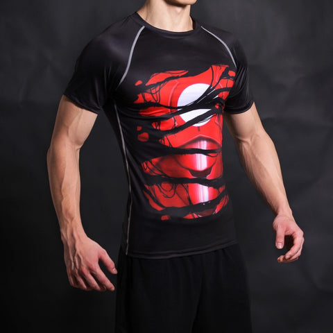 Iron Man Alter Ego Black Compression Shirt