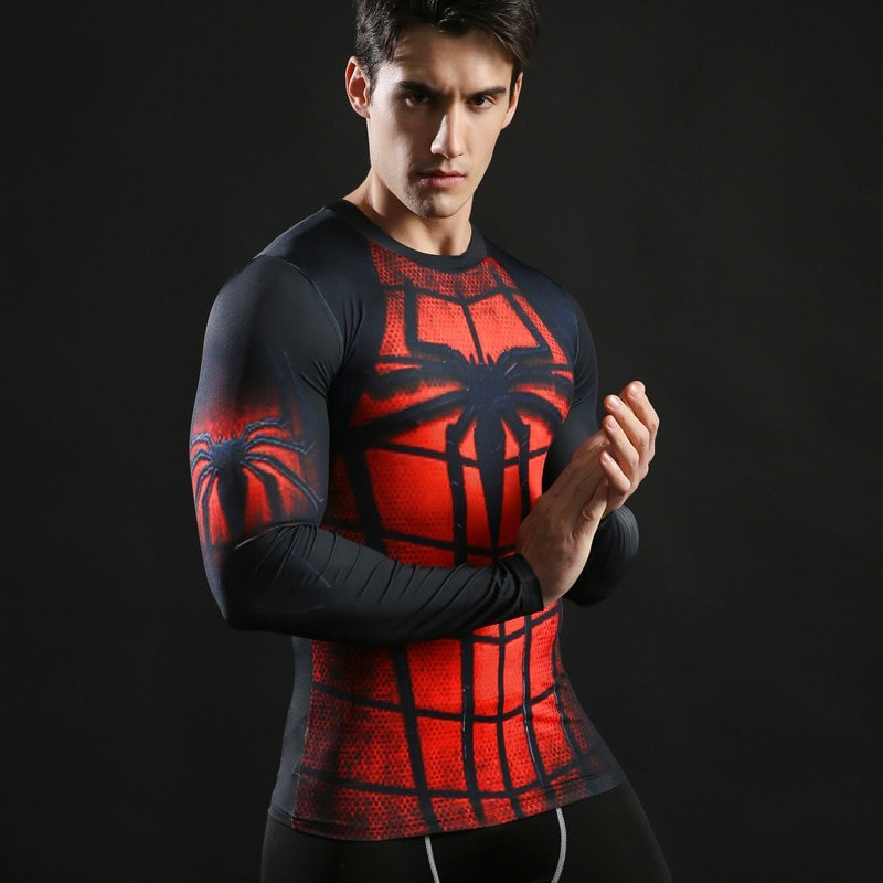 Spiderman Dark Long Sleeve Compression Shirt