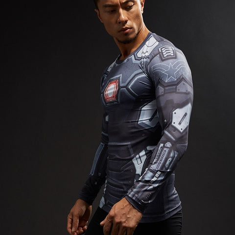 War Machine Civil War Long Sleeve Compression Shirt