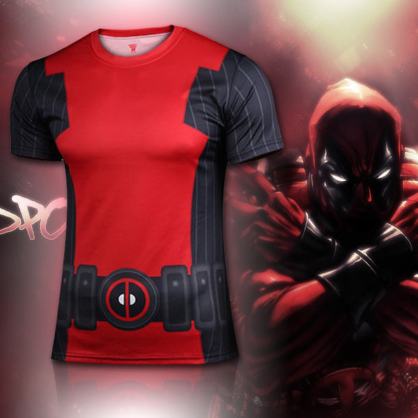 Deadpool Animated Compression Shirt