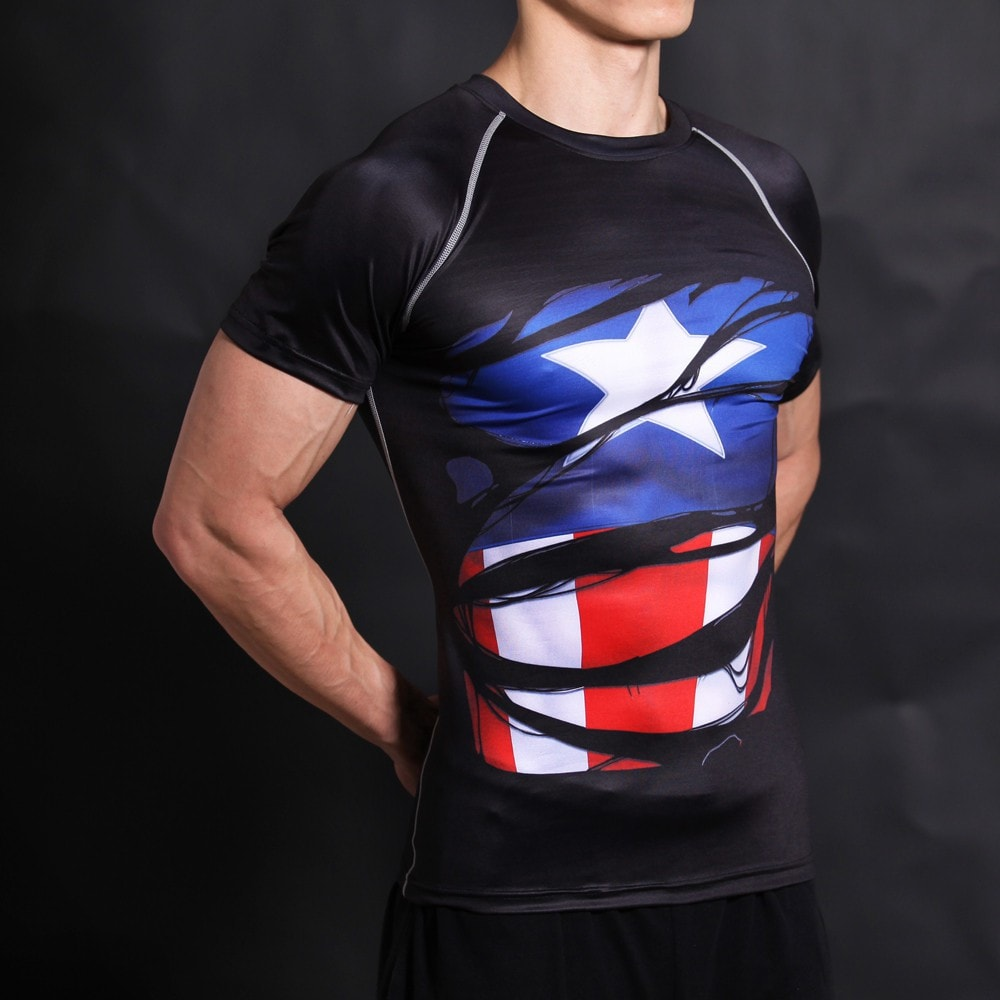 Captain America Alter Ego Black Compression Shirt