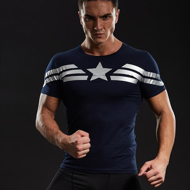 Captain America Star Compression Shirt