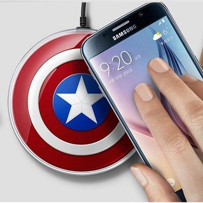 Captain America Qi Wireless Phone Charger Pad - magilook deep cleansing masks