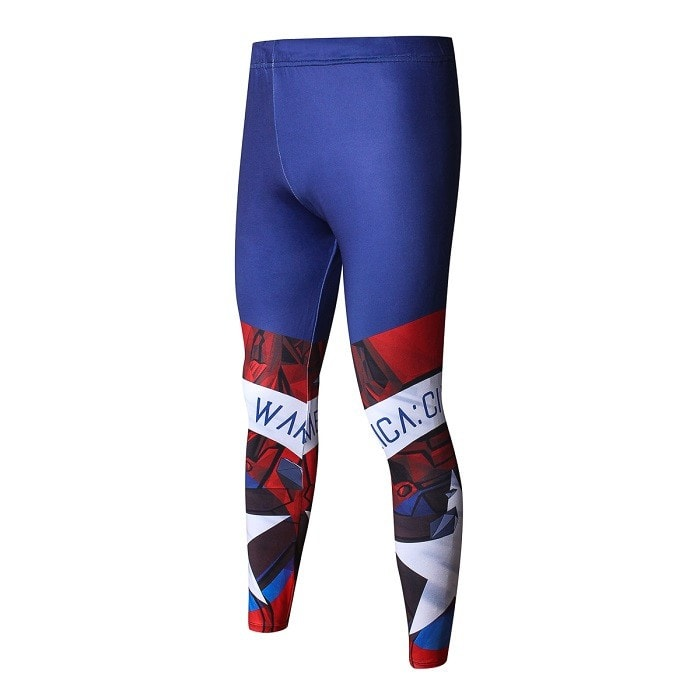 Captain America Designer Fitness Leggings - Novelty Force