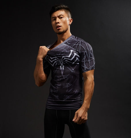 Dark web Symbiote Compression Shirt