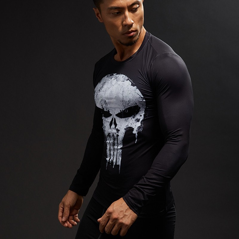 Punisher Long Sleeve Compression Shirt