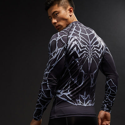 Light Web Symbiote Long Sleeve Compression Shirt - magilook deep cleansing masks