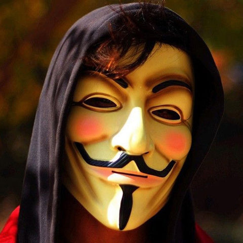 Anonymous Mask (White or Yellow) - Novelty Force
