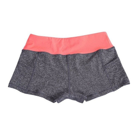 Color Block Yoga Shorts