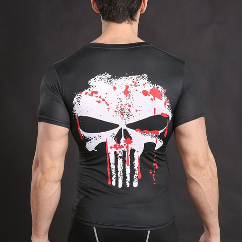 Punisher Blood Splatter Compression Shirt