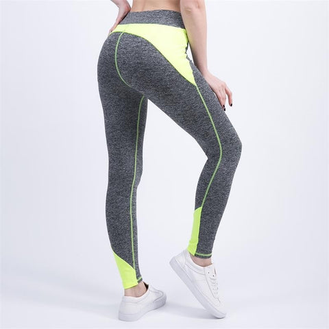 High-Waist Color Pop Fitness Leggings